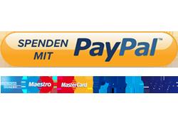 Sicher und einfach mit PayPal spenden!